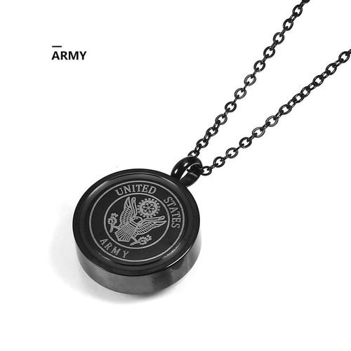 Black Army Urn Necklace