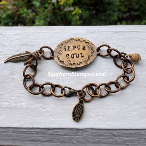 Gypsy Soul Fire Painted Bracelet