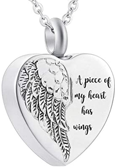 a Piece Of My Heart Has Wings Urn Necklace