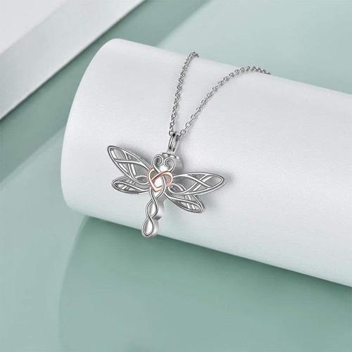 Dragonfly Sterling Silver Keepsake Urn Necklace