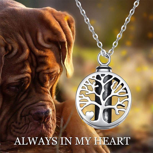 Sterling Silver Tree Of Life Memorial Urn Necklace