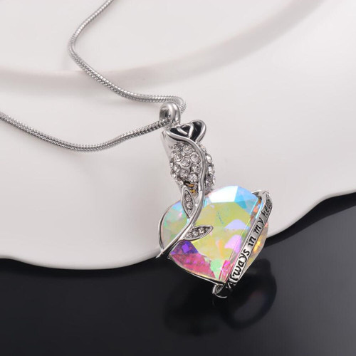 Always In My Heart Multi Color Rose Urn Necklace