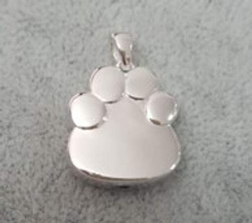 Sterling Silver Paw Print Urn Necklace