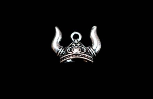 Viking Helmet Jewelry Charm