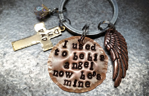 I Used To Be His Angel Copper w/ Brass Cross