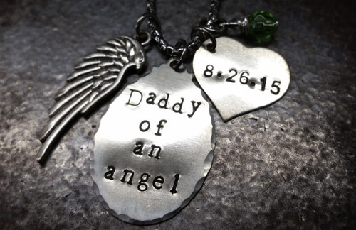 Daddy Of An Angel Silver Oval
