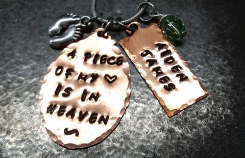 A Piece Of My Heart Copper Oval w/ Copper Tag