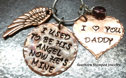 I Used To Be His Angel All Copper w/ Solid Heart