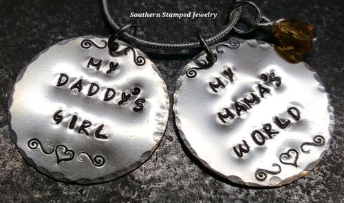 My Daddy's Girl Jewelry , My Mama's World Silver Circles
