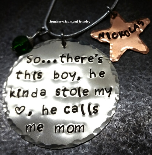 So There's This Boy Silver Circle w/ Copper Star