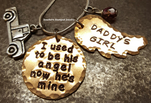 I Used To Be His Angel Bronze Circle w/ Bronze Wing