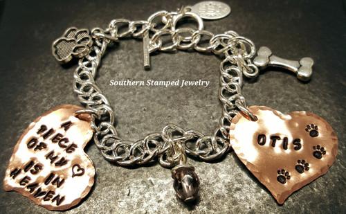 A Piece Of My Heart Funky Copper Heart w/ Solid Copper Heart Bracelet