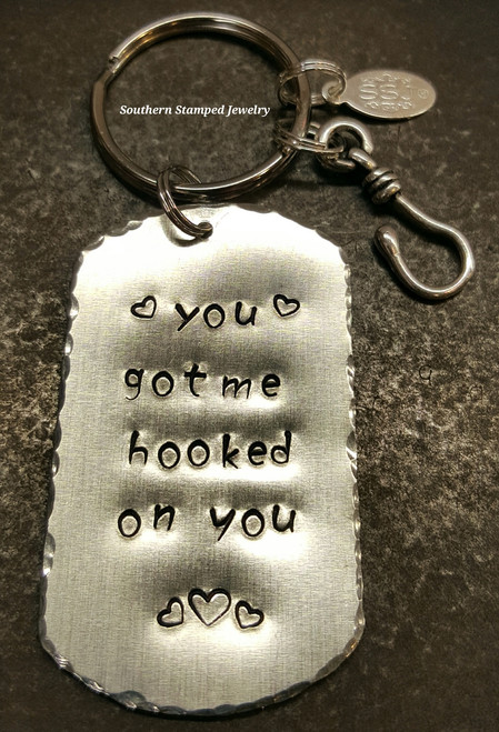 You Got Me Hooked On You Key Chain