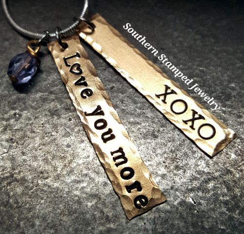 Bronze Hanging Bar Necklace