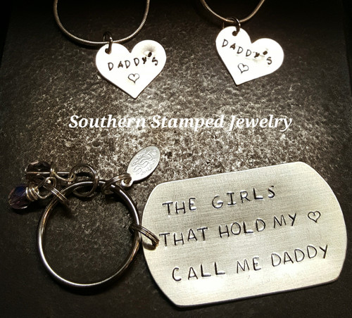 The Girls That Hold My Heart Key Chain And Necklace Set