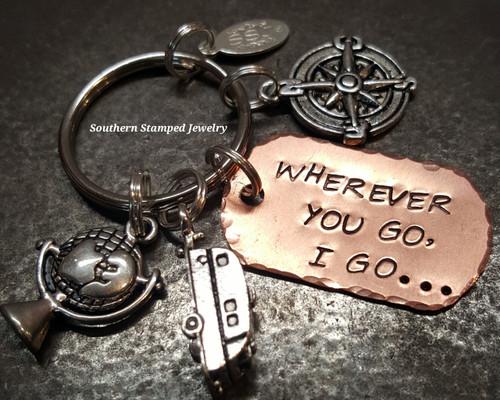 Wherever You Go Key Chain