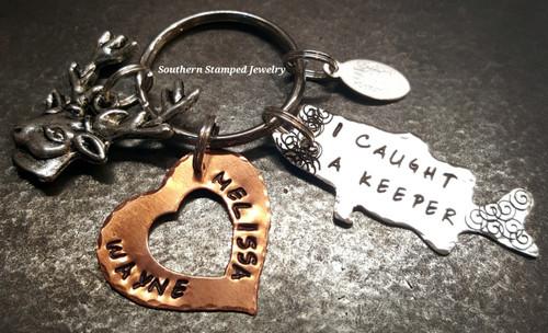 I Caught A Keeper Key Chain