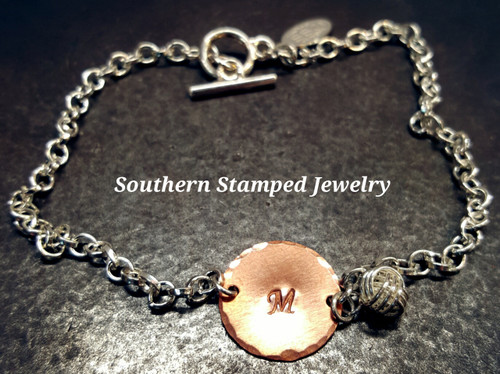 I Couldn't Tie The Knot Without You Copper Circle Bracelet or Anklet
