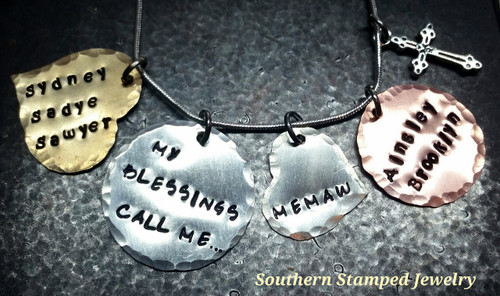My Blessings Call Me Silver Circle w/ Copper Circle And Brass Heart