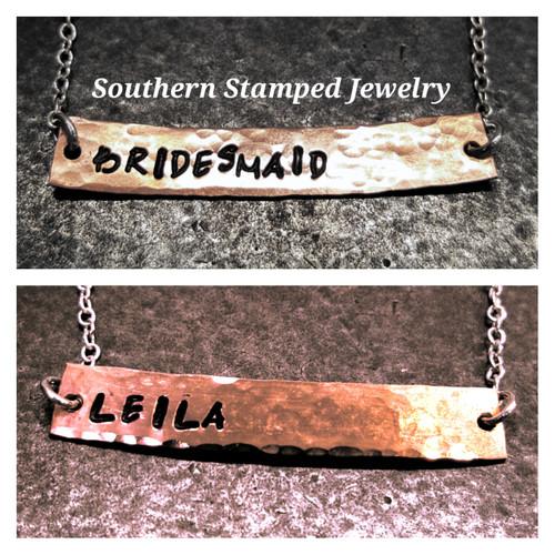 Reversible Bridesmaid's Bar Necklace