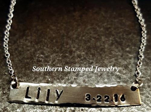 Silver Single Bar Necklace