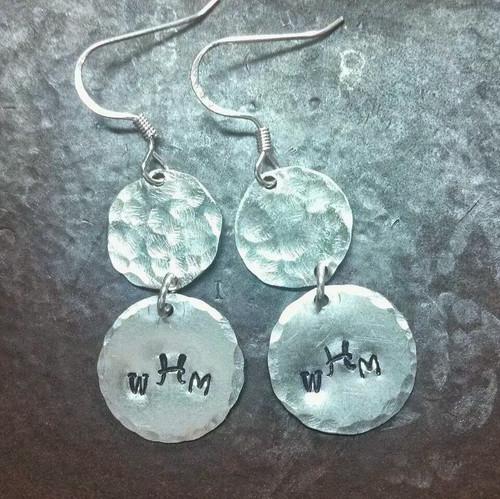 Graduating Silver Circle Earrings