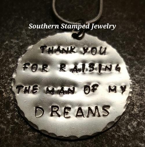 Thank You For Raising Silver Circle Necklace