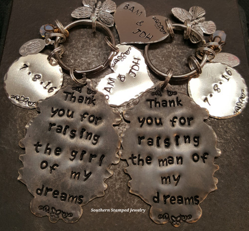 Thank You For Raising The Girl/Man Mother Of The Bride And Groom Key Chain Set