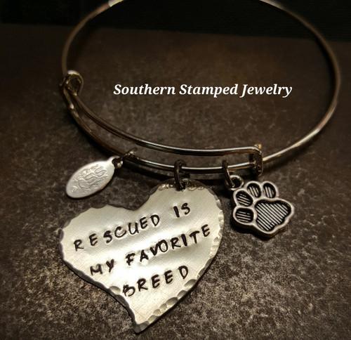 Rescued Adjustable Bangle Bracelet