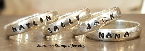 4 Sterling Silver Stackable Rings