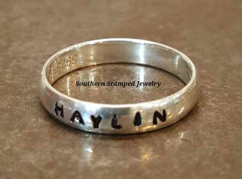 Stackable Name Rings