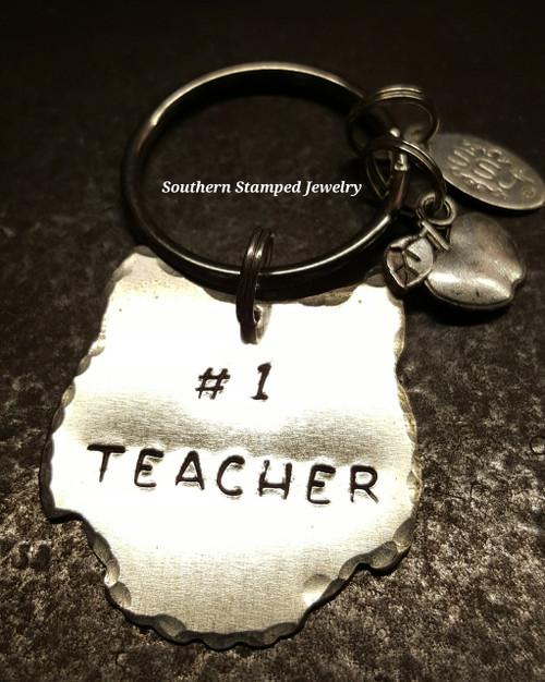 Silver Owl #1 Teacher Key Chain