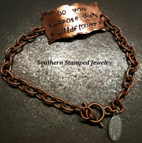 Copper Square Plaque w/ Copper Bracelet
