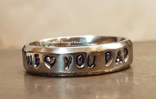 Stainless Steel Stamped Ring