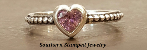 October Sterling Fire Polished Birth Stone Ring