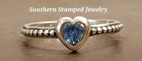 December Sterling Fire Polished Birth Stone Ring