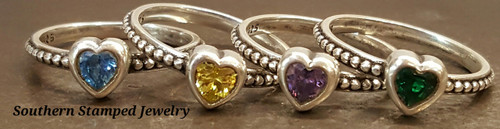 4 Sterling Silver Fire Polished Rings