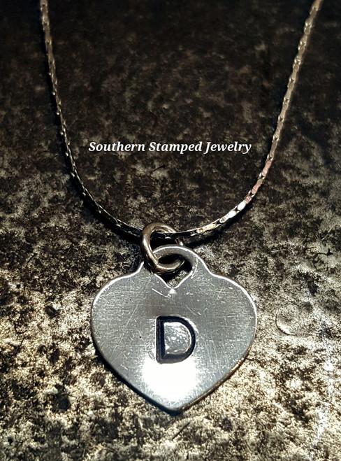 Sterling Silver Locket Style Heart On Fine Sterling Silver Chain