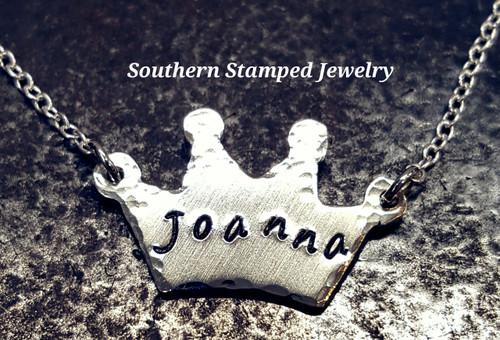 Silver Crown Necklace