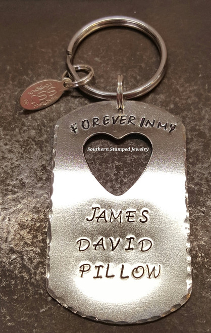 Forever In My Heart Dog Tag w/ Heart Cut Out