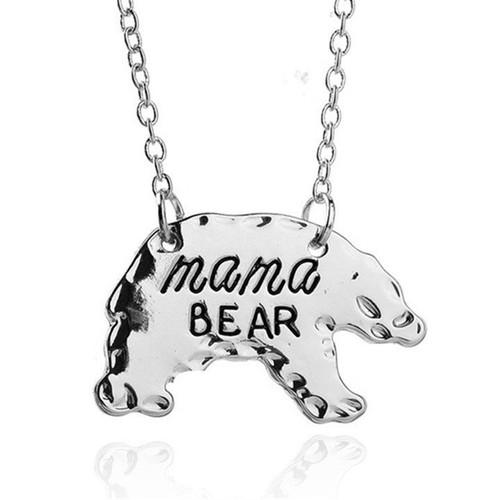 Mama Bear Silhouette Necklace