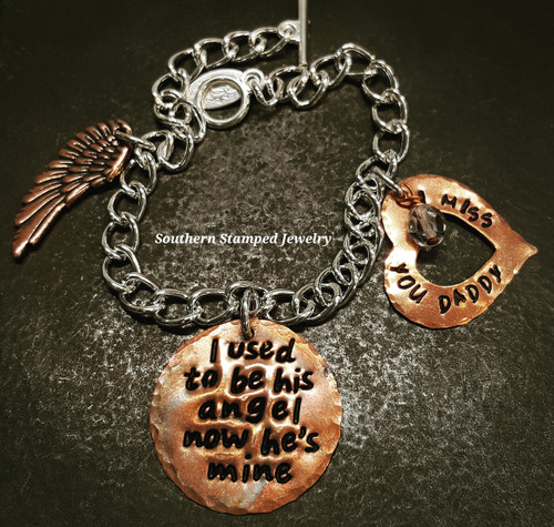I Used To Be His Angel All Copper Bracelet