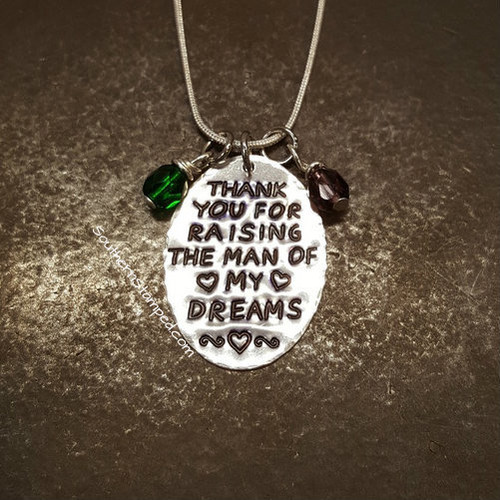 Thank You For Raising Sterling Silver Oval