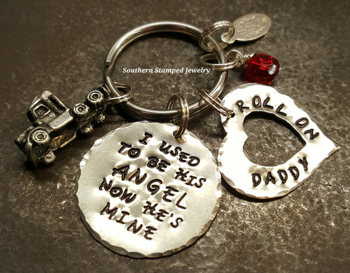 I Used To Be His Angel All Silver Key Chain