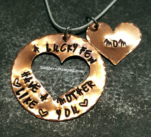 A Lucky Few Large Copper Washer w/ Cut Out Heart