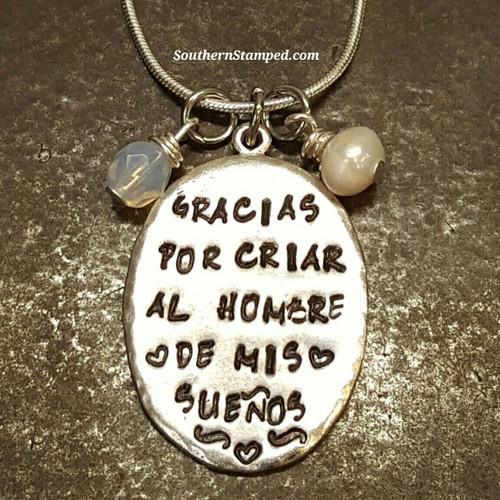 """Spanish Thank You For Raising The Man Of My Dreams Keepsake """"Gracias por crear al hombre de mis sueños"""""""