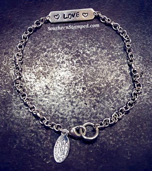 Tiny Bar Bracelet in Sterling Silver