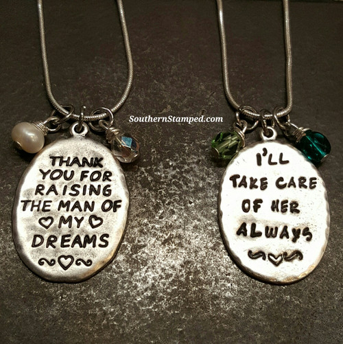 Thank You For Raising The Man/I'll Take Care Of Her Always Sterling Silver Set