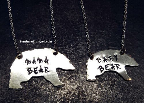Mama Bear And Baby Bear Necklaces