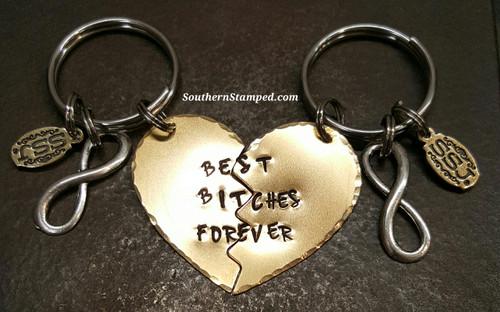 Best Bitches Forever Keychain Set
